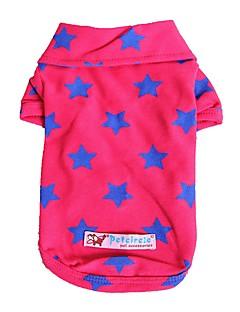 billiga Hundkläder-Hund / Katt / Husdjur T-shirts Hundkläder Stjärnor / Citat och ordspråk Gul / Röd / Blå Cotton Kostym För husdjur Dam Stilig / Ledigt /