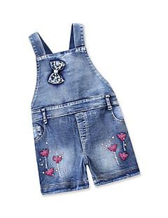 billige Tøjsæt til piger-Børn / Baby Pige Sommerfugl Ensfarvet Uden ærmer Tøjsæt