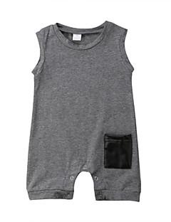 billige Babytøj-Baby Unisex Ensfarvet / Patchwork Uden ærmer En del