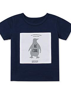 billige Overdele til drenge-Baby Drenge Trykt mønster / Patchwork Kortærmet T-shirt
