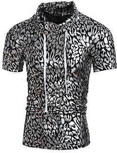 お買い得  メンズTシャツ&タンクトップ-男性用 Tシャツ 活発的 ベーシック レオパード