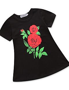 billige Pigekjoler-Baby Pige Blomstret Kortærmet Kjole