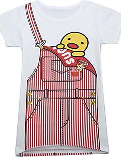 billige Pigetoppe-Børn Pige Ensfarvet Kortærmet T-shirt