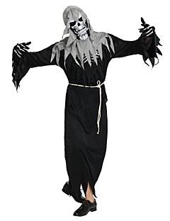 billige Voksenkostymer-Skjelett / Kranium Spøkelse Kostume Unisex Halloween Halloween Karneval Maskerade Festival / høytid Halloween-kostymer Drakter Svart Ensfarget Halloween
