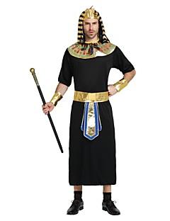billige Halloweenkostymer-Egyptiske Kostymer Kostume Herre Halloween Karneval Nytt År Festival / høytid Halloween-kostymer Drakter Svart Ensfarget Halloween Halloween