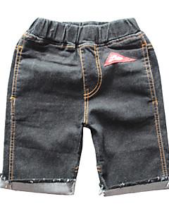 billige Drengebukser-Børn Drenge Sort & Rød Patchwork Shorts