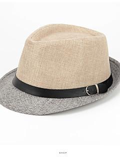 billige Trendy hatter-Herre Vintage Ferie Beret Bøttehatt - Dusk, Fargeblokk Polyester