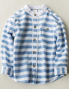billige Overdele til drenge-Børn Drenge Stribet Langærmet Skjorte