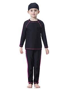 billige Badetøj til drenge-Børn Pige Ensfarvet Patchwork Badetøj