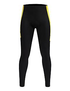 billige Sykkelbukser,Shorts,Strømpebukser, Tights-WOSAWE Herre Sykkeltights Sykkel Tights / Bunner 3D Pute Klassisk Polyester, Spandex Svart / Gul Sykkelklær