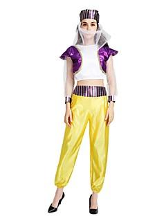 billige Halloweenkostymer-Princess Jasmine Kostume Dame Halloween Maskerade De dødes dag Festival / høytid Halloween-kostymer Drakter Lilla Ensfarget Halloween Halloween