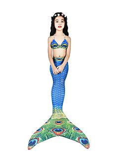 billige Halloweenkostymer-The Little Mermaid Cosplay Kostumer / Badetøy / Bikini Dame Halloween / Karneval Festival / høytid Halloween-kostymer Blæk Blå Vintage
