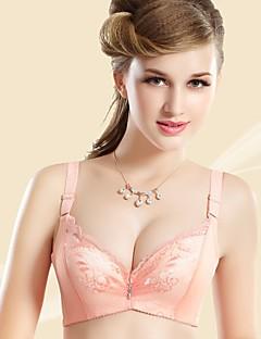 billige Dame-brystholdere-Kvinner En sensasjonell touch BH Blonde-BH Dytt opp 3/4 Kop - Blomstret Jacquardvevnad