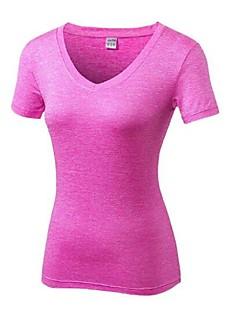 billige Løbetøj-Dame Løbe-T-shirt Sport T-Shirt - Kortærmet Pilates, Afslappet, Træning & Fitness Letvægt, Hurtig Tørre, Åndbarhed Elastisk Orange, Rosa,
