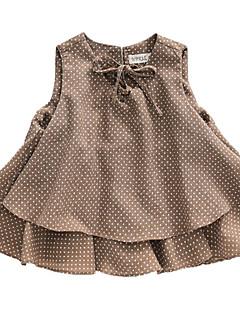 billige Pigetoppe-Børn Pige Prikker Uden ærmer Skjorte