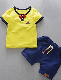 billige Tøjsæt til drenge-Baby Drenge Patchwork Kortærmet Tøjsæt