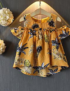 billige Pigetoppe-Børn Pige Ananas Frugt Uden ærmer Bluse
