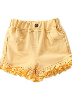 billige Babyunderdele-Baby Pige Basale Ensfarvet Bomuld Shorts