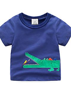 billige Overdele til drenge-Børn / Baby Drenge Jacquard Vævning Kortærmet T-shirt