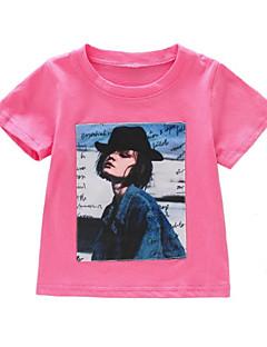 billige Pigetoppe-Børn Baby Pige Trykt mønster Kortærmet T-shirt