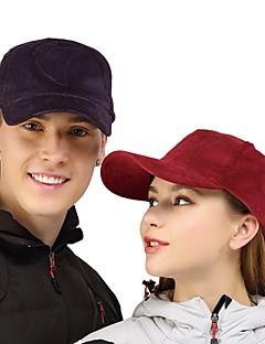 billige Clothing Accessories-VEPEAL Turcaps Hatt Vindtett Stretch Høst Lilla Unisex Vandring Reise Ensfarget Voksne