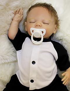 זול הזמן לטרום-סתיו הלבשה לילדים-OtardDolls בובה מחדש תינוקות בנים 18 אִינְטשׁ סיליקון - יָלוּד כְּמוֹ בַּחַיִים ידידותי לסביבה מתנה בטוח לשימוש ילדים Non Toxic הילד של יוניסקס / בנות צעצועים מתנות / ריסים ידניים