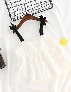 billige Pigekjoler-Baby Pige Ensfarvet / Farveblok Uden ærmer Kjole