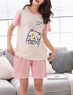 billige Moteundertøy-Dame U-hals Dress Pyjamas - Fargeblokk