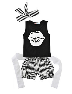 billige Sett med babyklær-Baby Unisex Stribet Uden ærmer Tøjsæt