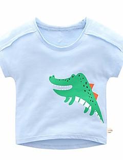 billige Overdele til drenge-Børn Drenge Ensfarvet / Farveblok Kortærmet T-shirt
