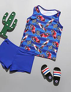 billige Badetøj til drenge-Børn Drenge Trykt mønster / Farveblok Uden ærmer Badetøj