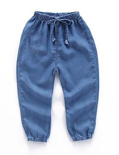 billige Jeans til drenge-Børn Drenge Ensfarvet Jeans