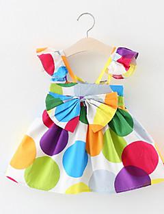 billige Babykjoler-Baby Pige Geometrisk / Farveblok Uden ærmer Kjole