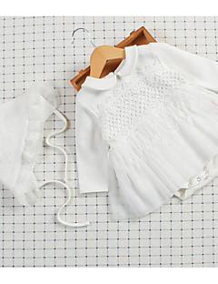 billige Babytøj-Baby Pige Ensfarvet Langærmet Bodysuit