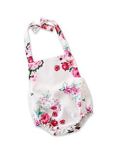 billige Babytøj-Baby Pige Blomstret / Trykt mønster Uden ærmer En del