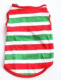 billiga Hundkläder-Hund / Katt / Husdjur Väst Hundkläder Randig / Färgblock Röd Cotton Kostym För husdjur Herr Ledigt / vardag / Trendig