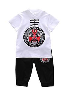 billige Tøjsæt til drenge-Børn Drenge Geometrisk Kortærmet Tøjsæt