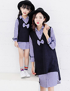 cheap Family Matching Outfits-Mommy and Me Striped Long Sleeve Shirt