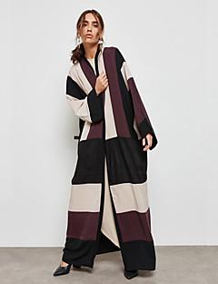 ieftine Îmbrăcăminte Exterior-Pentru femei Abaya Șic Stradă / Sofisticat - Creative / Carou / Striat  / Bloc Culoare, Peteci
