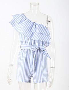 Χαμηλού Κόστους Παντελόνια Φούστες-Γυναικεία Εξόδου Ολόσωμα - Ριγέ Πλατύ Πόδι Χαμόγελο
