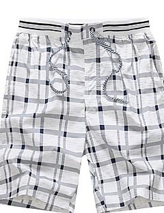 billige Herrebukser-Herre Plusstørrelser Shorts Bukser Ruder