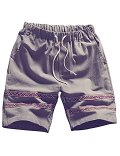 billige Herrebukser og -shorts-Herre Store størrelser Bomull Løstsittende Chinos / Shorts Bukser Stripet