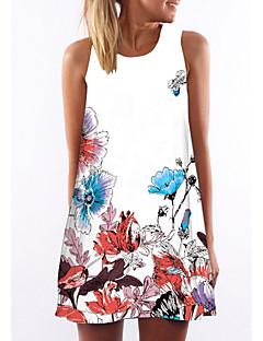 Χαμηλού Κόστους Γυναικεία Φορέματα-Γυναικεία Εξόδου Swing Φόρεμα Πάνω από το Γόνατο Τιράντες