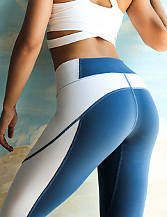 cheap Fitness, Running & Yoga Clothing-Women's Color Block Yoga Pants - Blue, Grey Sports Spandex Tights / Leggings Activewear Quick Dry Stretchy