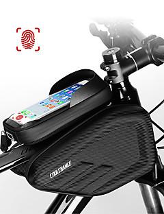 billiga Cykling-CoolChange Mobilväska / Väska till cykelramen 6.0/6.2 tum Pekskärm, Vattentät Cykelsport för Cykling Svart