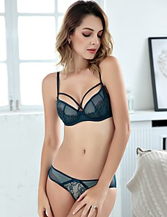 cheap Maternity Wear-Women's 3/4 Cup Bras & Panties Sets Push-up / Lace Bras / Underwire Bra - Floral / Jacquard / Embroidered
