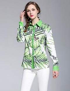 ieftine Tops-Pentru femei Cămașă Activ / Boho - Floral Imprimeu Tropical Leaf