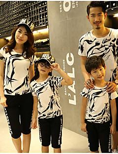 billige Sett med familieklær-Barn Gutt Geometrisk Kortermet T-skjorte