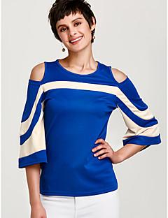 halpa -Naisten Ohut Color Block Katutyyli T-paita