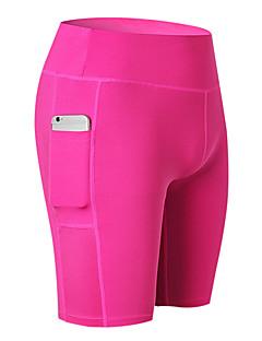 billige Løbetøj-Dame Lomme yogashorts - Blå, Lys pink, Grå Sport Shorts Løb, Fitness, Træningscenter Sportstøj Åndbart, Hurtigtørrende, Svedreducerende Elastisk / Butt Lift